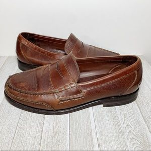 Neil M Brown Leather Penny Loafers